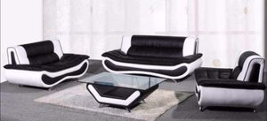 New black/white modern style 4pc living room set for Sale in Kent, WA
