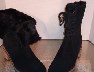 Women Black Timberland Boots With Fur Size 9.5 New for Sale in Smyrna,  GA
