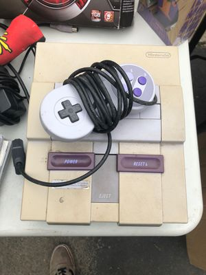 Super Nintendo (SNES) working with one controller and wires for Sale in Bellingham, MA