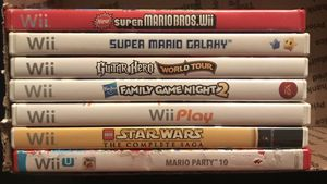 Wii Video Games Mario Star Wars LEGO Guitar Hero for Sale in Frisco, TX