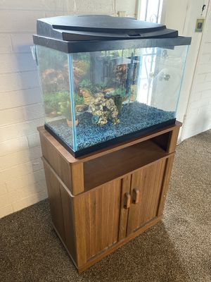 39 Gal - Full Aquarium / Fish Tank Kit with Stand & Extras for Sale in San Diego, CA