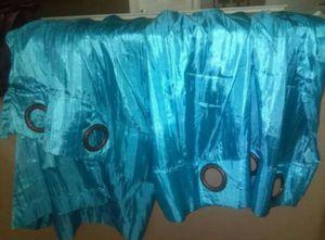 Satin Teal Curtain for Sale in Avondale, AZ