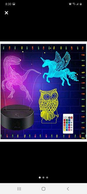 3D night light - Dinosaur, Owl, Unicorn for Sale in Columbus, OH