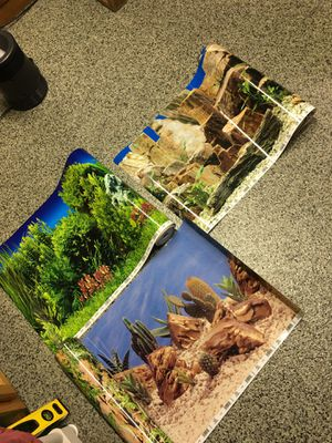 Fish tank/Aquarium double sided backgrounds for Sale in Plainfield, IL