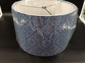 "POTTERY BARN DRUM LAMP SHADE BLUE AND PINK 13"" for Sale in Springboro, OH"