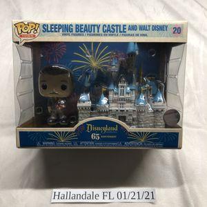 65th Anniversary Sleeping Beauty Castle and Walt Disney Funko Pop! #20 for Sale in Hallandale Beach, FL