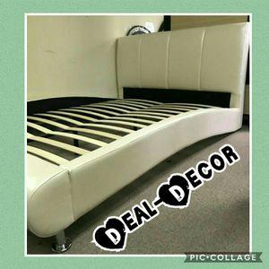 Ivory Pearl Platform Bed for Sale for sale  Atlanta, GA