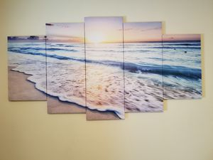 Beach canvas print. Brand new in the box. Paid 60 asking 45 or best offer. for Sale in Cumberland, RI