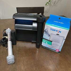 Top Fin Silent Stream Filter and Top Fin Submersible Water Heater 100W for Sale in Anaheim, CA
