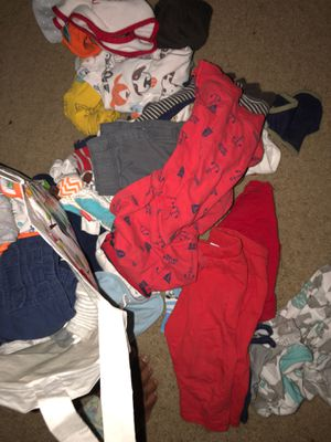 I have a bunch of half new/use baby clothes/socks/bibs/burp clothes/etc that I don't want to throw away! for Sale in Newport News, VA