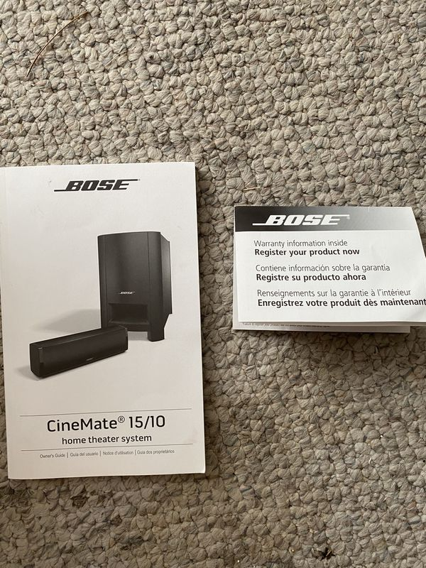 Bose Cinemate 15/10