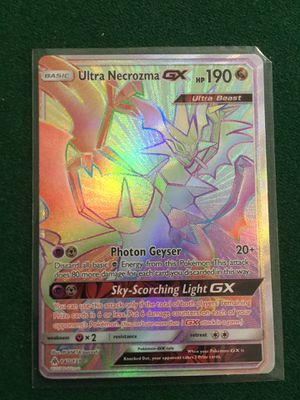 Pokémon Ultra Necrozma-GX Secret Rare for Sale in Crofton, MD