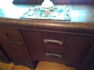 Antique sideboard table. It matches the serving table. Both pieces have had a price. If you want them, they sell together for only 1,050 for Sale in Kingsport, TN