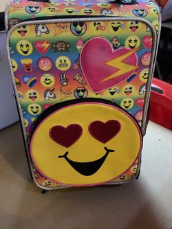 """Emojis Travel Carry On Suitcase For Kids 18"""" for Sale in Queens,  NY"""