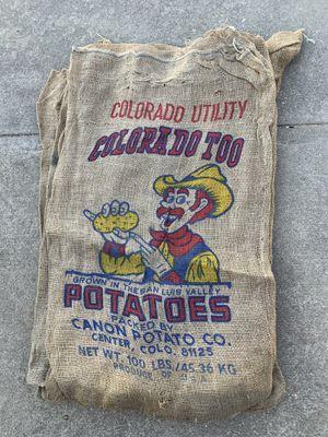 Vintage burlap potato sacks for Sale in Ada, OK