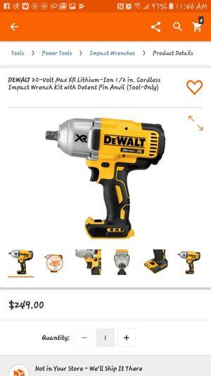 Dewalt 20v XR Brushless Impact Wrench (tool only) for Sale in Greenville, SC