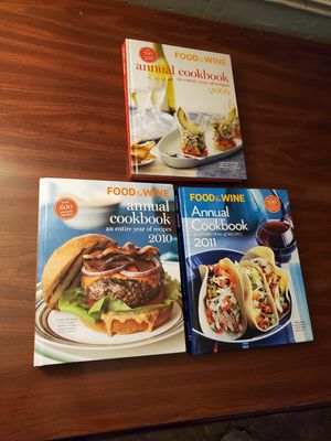 Food and wine annual Cookbook recipes lot $25 for Sale in Belleair, FL
