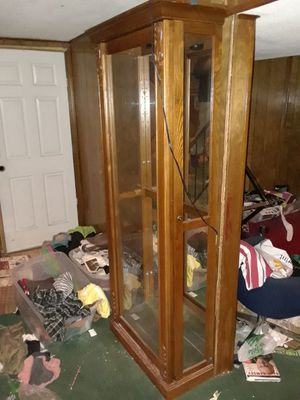 Wood/ glass cabinet for Sale in Kansas City, MO