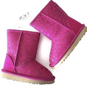 TCP Pink Glitter Leopard Slip On Faux fur Boots girls girl toddler for Sale in Shawnee, KS