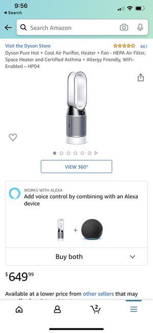 Dyson pure hot+ cool air purifier fan for Sale in Los Angeles, CA