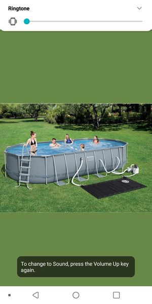 """Bestway Power Steel Frame 22' x 12' x 48"""" Above Ground Oval Pool Set for Sale in Redlands, CA"""
