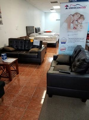 2-pcs Sofa Set in Bonded Leather [ONLY $50 DOWN AND 90 DAYS TO PAY SAME AS CASH] for Sale in Irving, TX