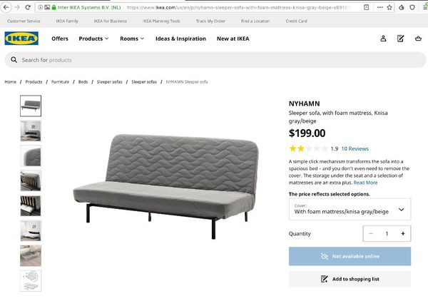 IKEA Queen-Size Futon for $65!