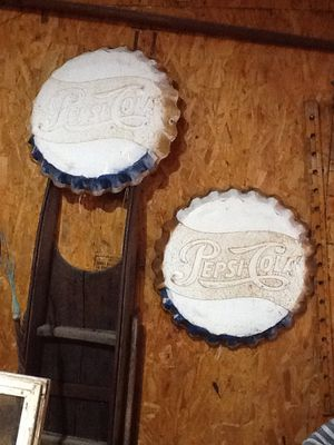 """Antique Pepsi Cola 19"""" button/bottle cap signs for Sale in Dover, PA"""
