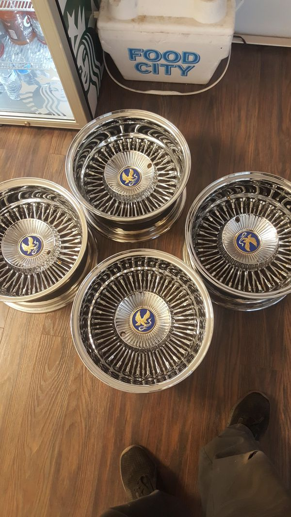14 × 7 True spokes wire wheels