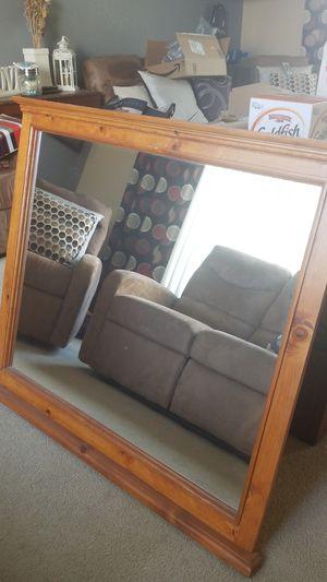 Solid oak framed mirror for Sale in Manteca, CA