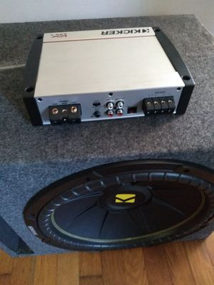 New Kickers Subwoofers and ampl for Sale in Petersburg, VA