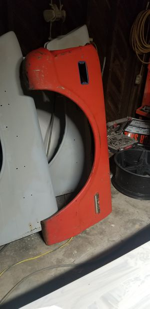 1968 Chevy gmc c10 driver fender 100obo original steel trade for square body parts for Sale in Reedley, CA