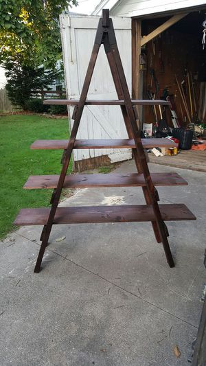 Handmade ladder shelf for Sale in Manitowoc, WI