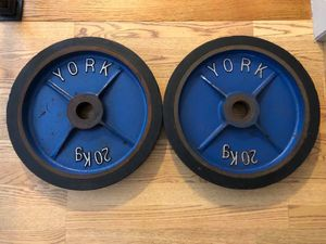 York Bumper Plates - Vintage - Work Out - Gym Equipment - Olympic Weights for Sale in Downers Grove, IL