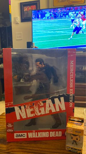 """The Walking Dead Mcfarlane Toys 10"""" Negan action figure and a Negan Pocket Pop Keychain for Sale in Tacoma, WA"""