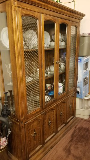 Antique lighted china cabinet for Sale in Chicago, IL