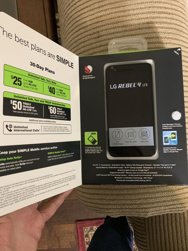 New LG Rebel 4 / Aristo 2 w/service! for Sale in Houston, TX - OfferUp