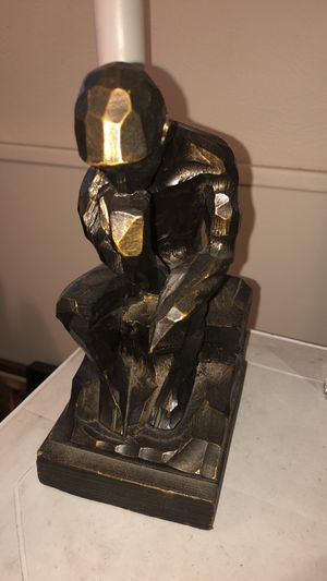 The thinking man Handcarved wooden for Sale in Colorado Springs, CO