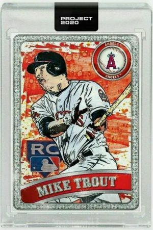 Mike Trout Topps Project 2020 -- thick 130pt baseball card featuring Ben Baller border Anaheim los angeles angels for Sale in Annapolis, MD