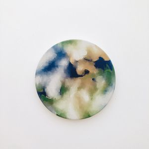 Planet earth round ceramic coaster 1 piece, 4 inches for Sale in San Francisco, CA