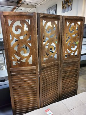 3 Panel Room Divider / Shoji Screen, Dark Brown for Sale in Garden Grove, CA