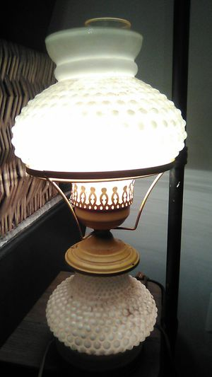 Antique milk glass lamp for Sale in Glen Burnie, MD