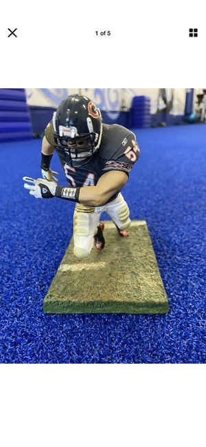 NFL McFarlane Toys Chicago bears Urlacher Action Figure With Stand for Sale in Cape Coral, FL
