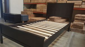 TWIN SIZE Wood Platform Bed with Headboard / No Box Spring Needed / Wood Slat Support, Cappuccino| 7582T-CP for Sale in Fountain Valley, CA