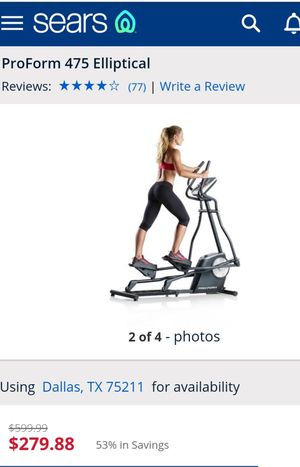 Proform 475 Elliptical - still in box for Sale in Dallas, TX