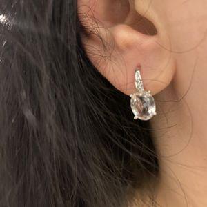 Cute Silver Earrings - Clear for Sale in Dallas, TX