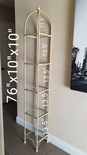 IRON FLOOR SHELF VERY GOOD CONDITION.....50.00...MANTECA for Sale in Manteca, CA