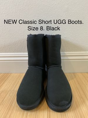 NEW Classic Short UGG Boots. Size 8. Black. for Sale in Los Angeles, CA