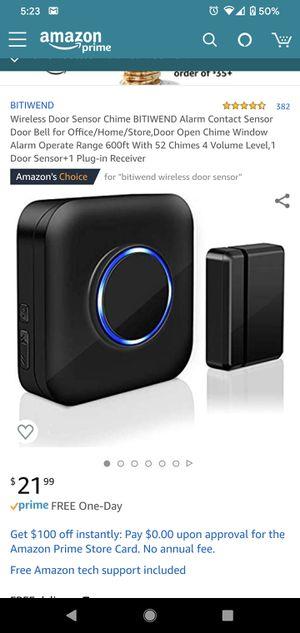 Wireless door sensor doorbell for Sale in Paramount, CA