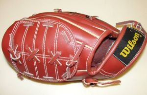 Wilson .. Fieldmaster .. A2617 .. Kirk Gibson Baseball Glove Mitt Youth. This is for the left had thrower to be worn on right hand. New for Sale in Bristol, PA